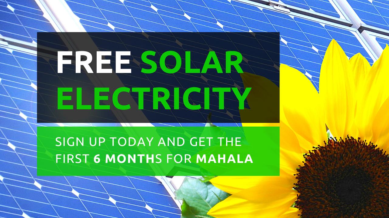 Free Solar electricity